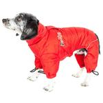 View Image 3 of Helios Thunder Full-Body Dog Coat - Grenadine Red