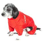 View Image 4 of Helios Thunder Full-Body Dog Coat - Grenadine Red
