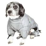 View Image 4 of Helios Thunder Full-Body Dog Coat - Grey