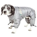 View Image 3 of Helios Thunder Full-Body Dog Coat - Grey