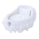 View Image 1 of Hello Doggie Crib Dog Bed - Snow White