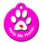 View Image 1 of Help Me Home QR Code Pet ID Tag by BarkCode - Pink