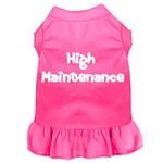 View Image 1 of High Maintenance Screen Print Dog Dress - Bright Pink