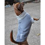 View Image 3 of Highline Fleece Dog Coat by Doggie Design - Two Tone Gray