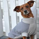 View Image 2 of Highline Fleece Dog Coat by Doggie Design - Two Tone Gray
