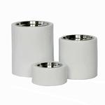View Image 1 of High-Rise White Dog Feeder Bowl