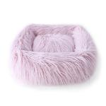 View Image 1 of Himalayan Yak Dog Bed by Hello Doggie - Blush