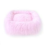 View Image 1 of Himalayan Yak Dog Bed by Hello Doggie - Ballerina Pink