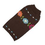 View Image 1 of Hand Knit Dog Sweater by Up Country - Bella Floral