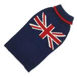 View Image 1 of Hand Knit Dog Sweater by Up Country - Union Jack