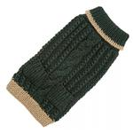 View Image 1 of Hand Knit Dog Sweater by Up Country - Forest Classic Cable