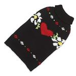 View Image 1 of Hand Knit Dog Sweater by Up Country - Hearts and Flowers