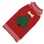 View Image 1 of Hand Knit Dog Sweater by Up Country - Christmas Tree