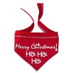 View Image 1 of HO HO HO Merry Christmas Dog Bandana Scarf - Red