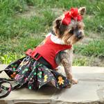 View Image 2 of Holiday Dog Harness Dress by Doggie Design - Gingerbread