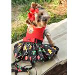 View Image 1 of Holiday Dog Harness Dress by Doggie Design - Gingerbread