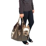 View Image 1 of Hollywood Fur-lined Dog Tote Carrier - Metallic