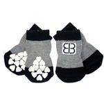 View Image 1 of Home Comfort Traction Control Dog Socks - Black & Gray