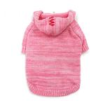 View Image 1 of Hoodie Sweater Dog Coat by Dogo - Pink