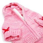 View Image 2 of Hoodie Sweater Dog Coat by Dogo - Pink