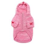 View Image 3 of Hoodie Sweater Dog Coat by Dogo - Pink