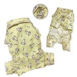View Image 2 of Hopping Bunny Flannel Dog Pajamas By Klippo