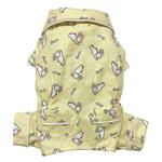View Image 1 of Hopping Bunny Flannel Dog Pajamas By Klippo