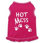 View Image 1 of Hot Mess Dog Tank Dress by I See Spot - Hot Pink