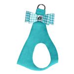 View Image 1 of Bimini Houndstooth Big Bow Step-In Dog Harness by Susan Lanci