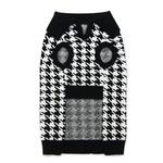 View Image 3 of Houndstooth Dog Sweater by Dogo - Black