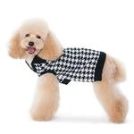 View Image 2 of Houndstooth Dog Sweater by Dogo - Black