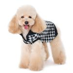 View Image 4 of Houndstooth Dog Sweater by Dogo - Black