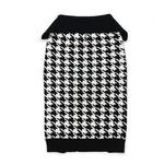 View Image 1 of Houndstooth Dog Sweater by Dogo - Black