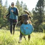 View Image 1 of Hover Craft Disk Dog Toy by Ruffwear - Blue Atoll
