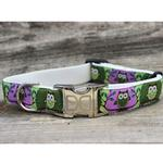 View Image 5 of H'Owl Grape and Avocado Dog Collar and Leash Set by Diva Dog