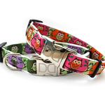 View Image 4 of H'Owl Grape and Avocado Dog Collar and Leash Set by Diva Dog