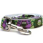View Image 3 of H'Owl Grape and Avocado Dog Collar and Leash Set by Diva Dog