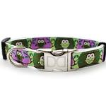 View Image 2 of H'Owl Grape and Avocado Dog Collar and Leash Set by Diva Dog