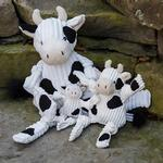 View Image 3 of HuggleHounds Barnyard Knotties Dog Toy - Cow