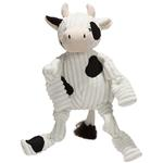 View Image 1 of HuggleHounds Barnyard Knotties Dog Toy - Cow