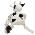View Image 2 of HuggleHounds Barnyard Knotties Dog Toy - Cow