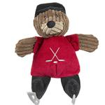 View Image 1 of HuggleHounds Chubbie Buddie Plush Dog Toy - Fox Hockey Player