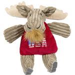 View Image 1 of HuggleHounds Chubbie Buddie Plush Dog Toy - Moose Skier