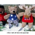 View Image 3 of HuggleHounds Chubbie Buddie Plush Dog Toy - Moose Skier