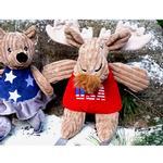 View Image 2 of HuggleHounds Chubbie Buddie Plush Dog Toy - Moose Skier