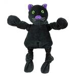 View Image 1 of HuggleHounds Halloween Knottie Dog Toy - Black Cat
