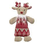 View Image 2 of HuggleHounds Holiday Chubbie Buddie Plush Dog Toy - Reindeer with Sweater