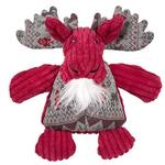 View Image 1 of HuggleHounds Holiday Chubbie Buddie Plush Dog Toy - Moose with Sweater