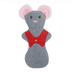 View Image 1 of HuggleHounds Holiday Cookie Shaped Dog Toy - Mouse