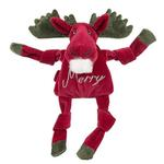 View Image 1 of HuggleHounds Holiday Knottie Dog Toy - Merry Moose